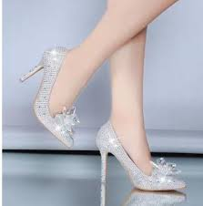 pointed toe high heels cinderella glass slipper pointed heels