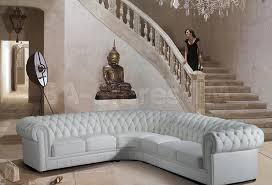 Tufted Leather Sofa Bed White Tufted Leather Sectional For The Home
