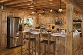 home design modern log cabin interior lighting decorate inside