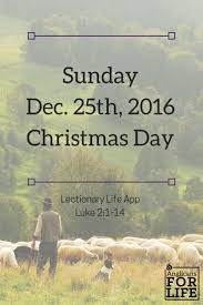sunday december 25th 2016 day anglicans for
