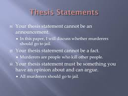 Your thesis statement does not need to be perfect before you write your paper