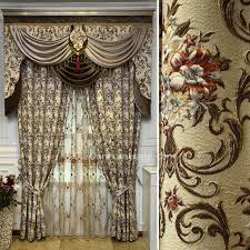 curtain valances for living room high quality victorian chenille living room curtain in beige no