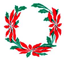 vintage christmas clip art poinsettia wreaths the graphics fairy