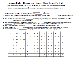 image of chile worksheet fun geography worksheets for kids