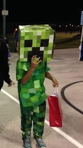 Halloween Costumes Minecraft Diy Minecraft Creeper Costume Gray Sweatsuit 1 5 Squares