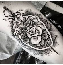 best 25 rose and dagger tattoo ideas on pinterest rose and