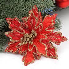 glitter artificial flowers 10pcs lot 15cm glitter artificial