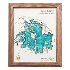 Topographical Map Of Georgia Lake Topography Art Hand Crafted Lake Map Topography Art