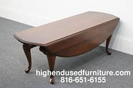 Drop Leaf Coffee Table Broyhill Lenoir House Solid Cherry Queen Anne Drop Leaf Coffee