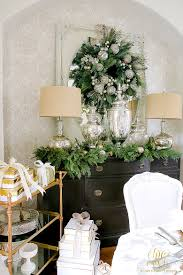 Gold Dining Room by Elegant White And Gold Christmas Dining Room And Table Scape