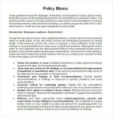 sample policy memo 13 documents in pdf