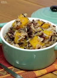 butternut squash rice pilaf with cranberries curious cuisiniere