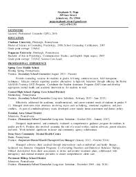 Sample Mental Health Counselor Resume by Resume For Therapist Mental Health Contegri Com