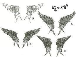 simple wings designs design ideas