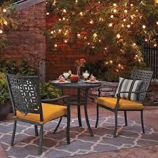 threshold hawthorne 3 piece metal patio bistro furniture set