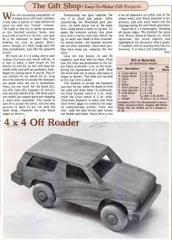 Car Plans by Wooden 4х4 Off Roader Plan U2022 Woodarchivist