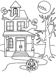 coloring halloween pages funycoloring