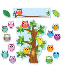 colorful owls behavior bulletin board set workbooks u0026 teacher