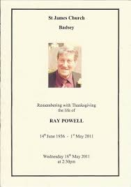 order thanksgiving powell ray order of service for a thanksgiving for his life