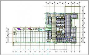 floor plan of a commercial building building floor plan detail with roof projection view dwg file