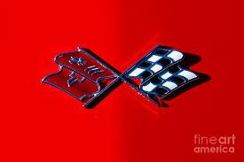 c3 corvette flags early c3 corvette emblem photograph by dennis hedberg