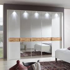 Schlafzimmerschrank Eiche Kleiderschrank Adria Schrank Weiß Spaltholz Eiche Massiv Mit