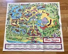 magic kingdom disney map magic kingdom map contemporary 1968 now ebay