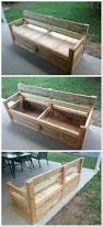 Patio Bench With Storage by Patio Chair U0026 Storage Box Made With Pallets U2022 1001 Pallets