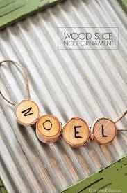 wood slice noel ornament tutorial cherished bliss