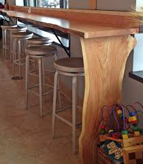 Live Edge Bar Table Reclaimed Wood Tables And Bar Counters Cafes Breweries Offices