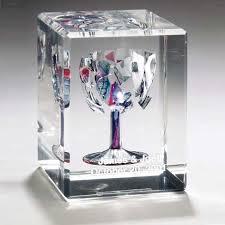 wedding keepsakes rectangular wedding glass lucite cube
