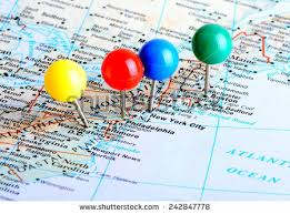 map of united states showing states and cities east coast map stock images royalty free images vectors