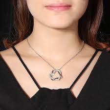 elegant pendant necklace images Jassy elegant double heart crystal rhinestone pendant necklace jpeg