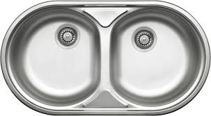 duet 2 bowl round sink without drainer deante