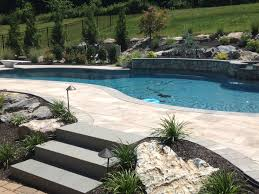 Backyard Landscaping Ideas With Pool by Picture Of Vinyl Liner Pools Rectangle Indianapolis Idolza