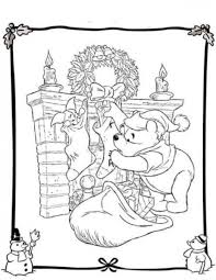 winnie and piglet free coloring pages for christmas christmas