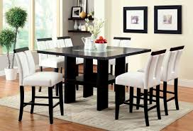 black finish u0026 led 7 pc counter height dining set caravana furniture