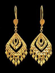 gold earrings 21k gold earrings 828 alquds jewelry