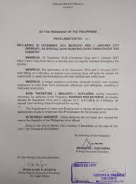 palace declares dec 26 and jan 2 as special holidays