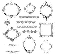 lines frame with ornaments vector material vector frames
