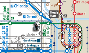 cta line map chicago boarding and more