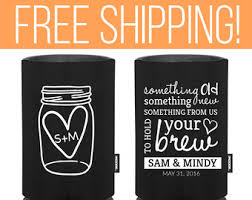 custom wedding koozies wedding koozies etsy