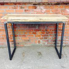Oak Breakfast Bar Table Reclaimed Solid Oak Topped Breakfast Bar Console Table