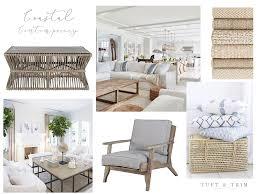 coastal contemporary living room design tuft u0026 trim