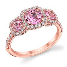 pink wedding rings pink diamond engagement rings for summer wedding day