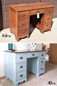 Homemade Wooden Computer Desk by Best 25 Refinished Desk Ideas On Pinterest Desk Redo
