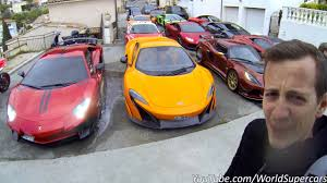 Meme Temps - d繪marrer 14 supercars en m繩me temps omg youtube