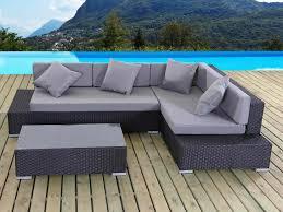 canapé d angle de jardin beautiful canape d angle resine tressee salon de jardin noir bali
