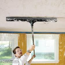 Stucco Ceiling Repair by How To Apply Knock Down Wall Texture U2014 The Family Handyman