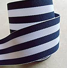 classic navy blue and white taffy striped 1 1 2 grosgrain ribbon